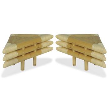 vidaXL Noćni ormarići 2 kom od bambusa 60 x 60 x 40 cm prirodne boje