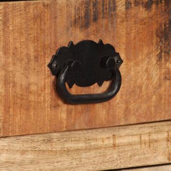 vidaXL Komoda s policama od masivnog drva manga 65 x 30 x 180 cm