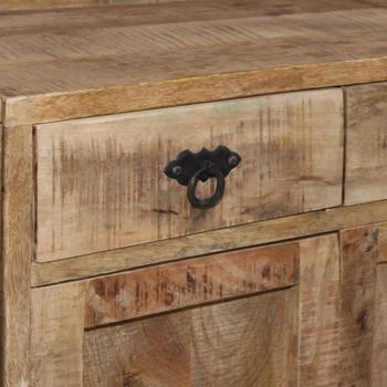vidaXL Komoda s policama od masivnog drva manga 120 x 35 x 200 cm
