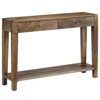 vidaXL Konzolni stol od masivnog drva manga 118 x 30 x 80 cm