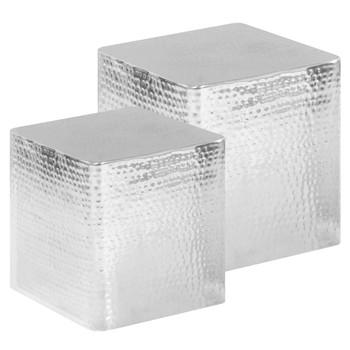 vidaXL Stolići za kavu 2 kom srebrni aluminijski