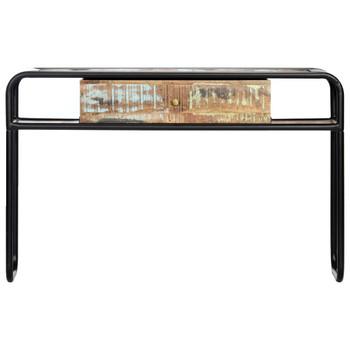 vidaXL Konzolni stol od masivnog obnovljenog drva 118 x 30 x 75 cm