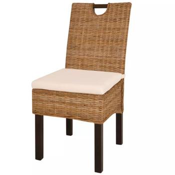 vidaXL Blagovaonske stolice 6 kom od ratana kubu i drva manga