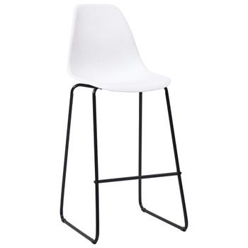 vidaXL Barske stolice 6 kom bijele plastične