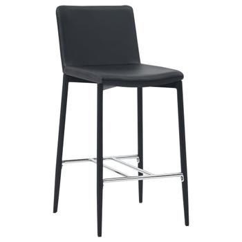 vidaXL Barski stolci od umjetne kože 4 kom crni