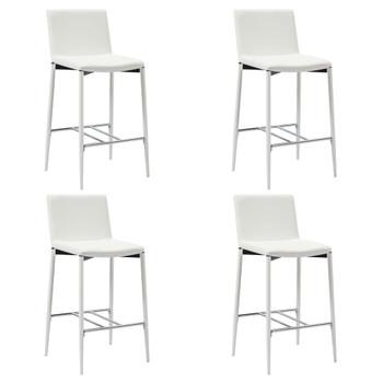 vidaXL Barski stolci od umjetne kože 4 kom bijeli