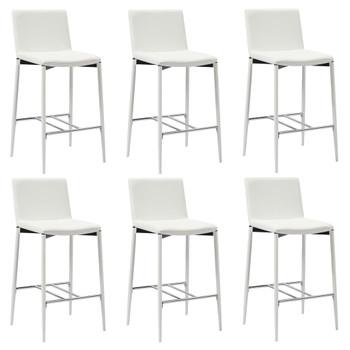 vidaXL Barski stolci od umjetne kože 6 kom bijeli