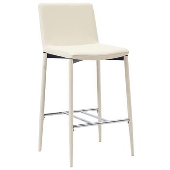 vidaXL Barski stolci od umjetne kože 6 kom krem