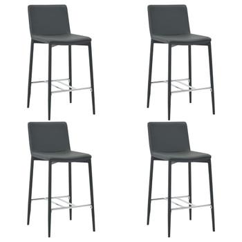 vidaXL Barski stolci od umjetne kože 4 kom sivi