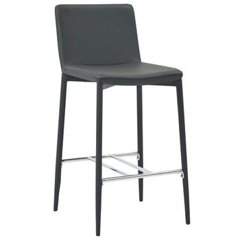 vidaXL Barski stolci od umjetne kože 6 kom sivi