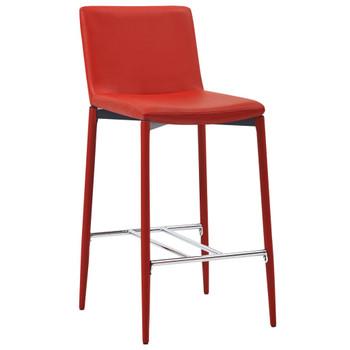 vidaXL Barski stolci od umjetne kože 4 kom crveni