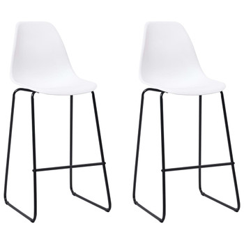 vidaXL Barske stolice 2 kom bijele plastične