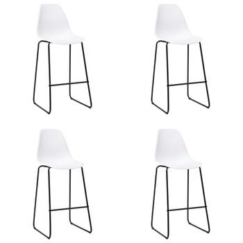 vidaXL Barske stolice 4 kom bijele plastične