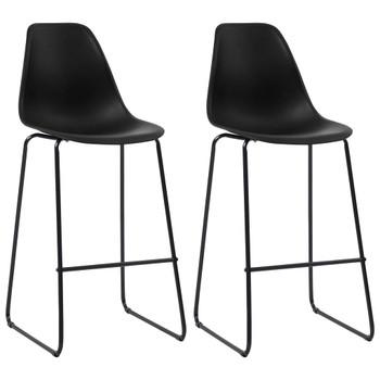 vidaXL Barske stolice 2 kom crne plastične