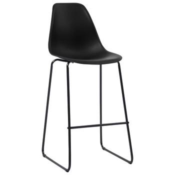 vidaXL Barske stolice 4 kom crne plastične
