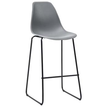 vidaXL Barske stolice 4 kom sive plastične