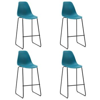 vidaXL Barske stolice 4 kom tirkizne plastične