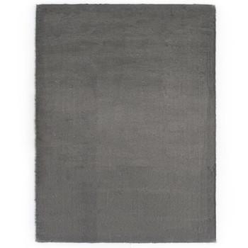 vidaXL Tepih od umjetnog zečjeg krzna 120 x 160 cm tamnosivi