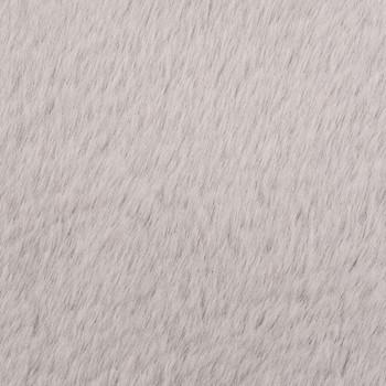 vidaXL Tepih od umjetnog zečjeg krzna 160 cm sivi