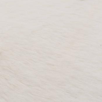 vidaXL Tepih od umjetnog zečjeg krzna 80 cm krem