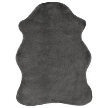 vidaXL Tepih od umjetnog zečjeg krzna 65 x 95 cm tamnosivi