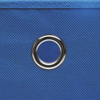 vidaXL Kutije za pohranu 4 kom plave 32 x 32 x 32 cm od tkanine