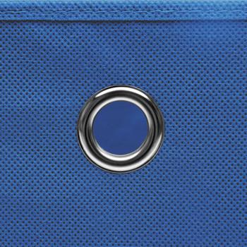 vidaXL Kutije za pohranu s poklopcima 4 kom plave 32x32x32 cm tkanina