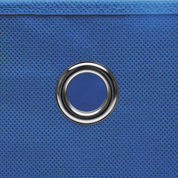 vidaXL Kutije za pohranu s poklopcima 10 kom plave 32x32x32 cm tkanina