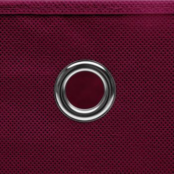 vidaXL Kutije za pohranu s poklopcima 10 kom tamnocrvene 32x32x32 cm