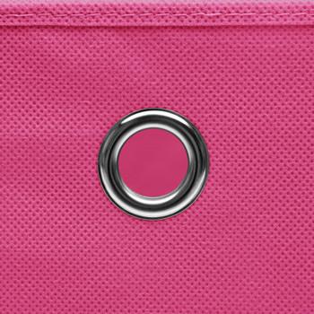 vidaXL Kutije za pohranu 4 kom ružičaste 32 x 32 x 32 cm od tkanine