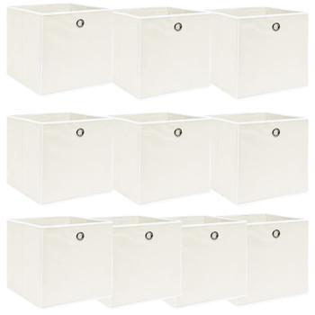 vidaXL Kutije za pohranu 10 kom bijele 32 x 32 x 32 cm od tkanine