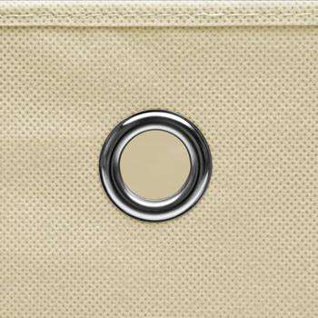 vidaXL Kutije za pohranu 10 kom krem 32 x 32 x 32 cm od tkanine