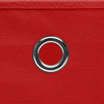 vidaXL Kutije za pohranu s poklopcima 4 kom crvene 32x32x32 cm tkanina