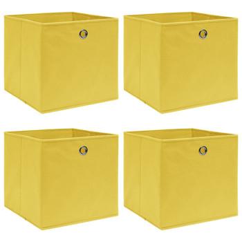 vidaXL Kutije za pohranu 4 kom žute 32 x 32 x 32 cm od tkanine