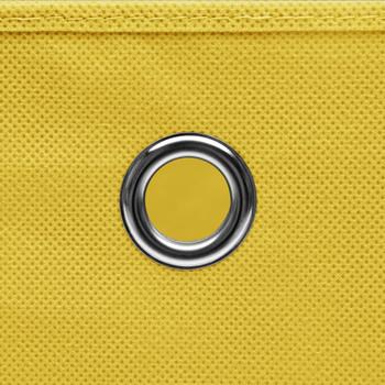 vidaXL Kutije za pohranu s poklopcima 4 kom žute 32x32x32 cm tkanina