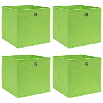 vidaXL Kutije za pohranu 4 kom zelene 32 x 32 x 32 cm od tkanine