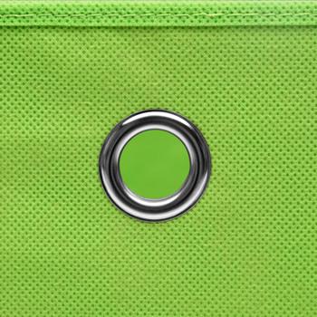 vidaXL Kutije za pohranu s poklopcima 10 kom zelene 32x32x32 cm tkanina