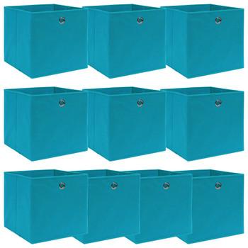 vidaXL Kutije za pohranu 10 kom svjetloplave 32x32x32 cm od tkanine