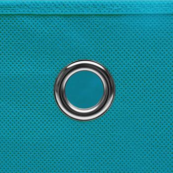 vidaXL Kutije za pohranu s poklopcima 10 kom svjetloplave 32x32x32 cm