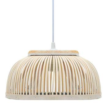 vidaXL Viseća svjetiljka od bambusa 40 W 34 x 14,5 cm polukružna E27
