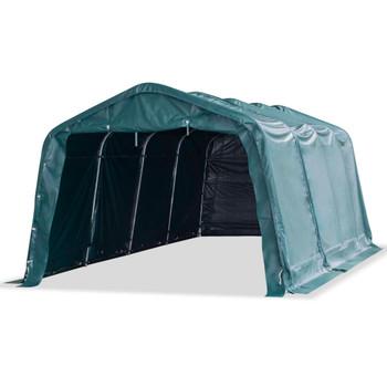 vidaXL Uklonjivi šator za stoku PVC 550 g/m² 3,3 x 6,4 m tamnozeleni