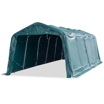 vidaXL Uklonjivi šator za stoku PVC 550 g/m² 3,3 x 8 m tamnozeleni