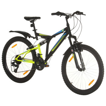 """vidaXL Brdski bicikl 21 brzina kotači od 26 """" okvir od 49 cm crni"""
