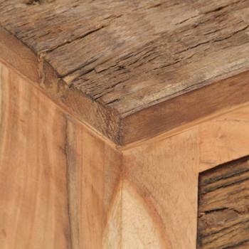 vidaXL Komoda od masivnog bagremovog i obnovljenog drva 60x33x75 cm