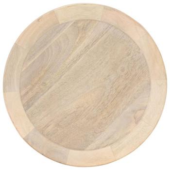 vidaXL Bočni stolić Ø 40 x 45 cm od masivnog drva manga