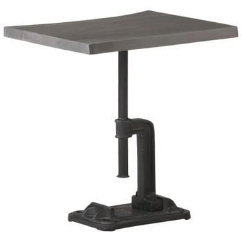 vidaXL Bočni stolić sivi 45x35x48 cm drvo bagrema i lijevano željezo