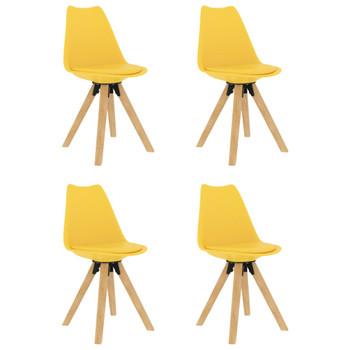 vidaXL Blagovaonske stolice 4 kom žute
