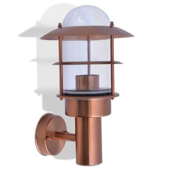 vidaXL Vanjska zidna svjetiljka od nehrđajućeg čelika bakrena