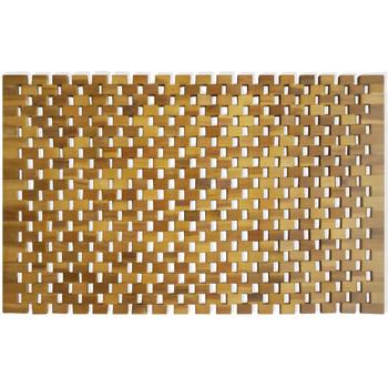 vidaXL Kupaonski otirač od drva akacije s uzorkom mozaika 80 x 50 cm
