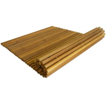 vidaXL Kupaonski otirač od masivnog bagremovog drva 80 x 50 cm